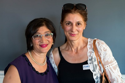 Vanita Dahia and Mary Cavaggion Director of Nutripath Pathology at Alchemy of the Mind Book Launch