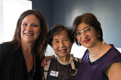 Vanita Dahia and Adriana Custeau and Dr Kwen Pun at Alchemy of the Mind Book Launch