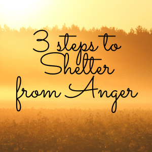 3 Steps to Shelter from Anger