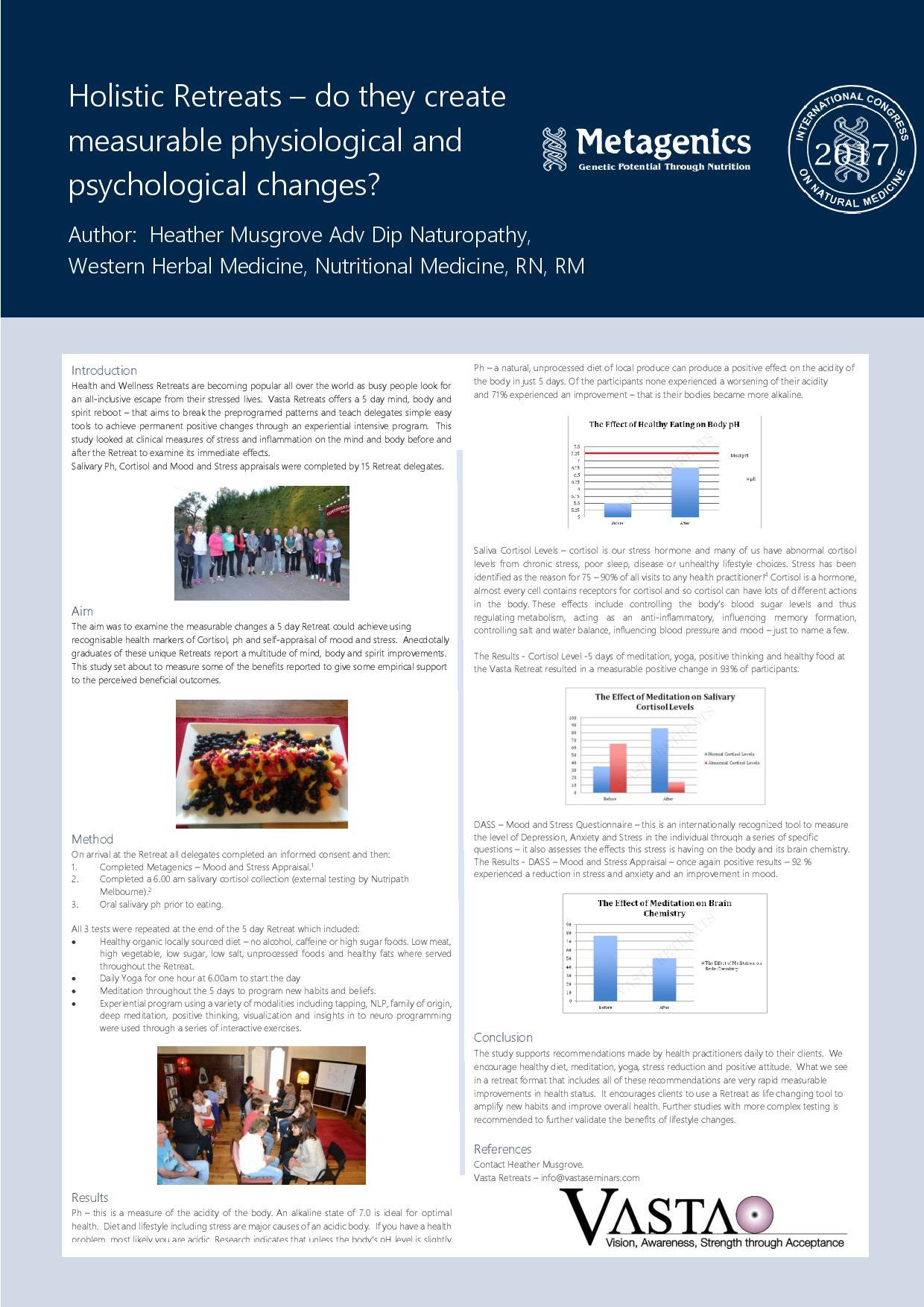 Holistic Retreats - evidence of benefit