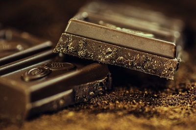 The happiness in dark Chocolate