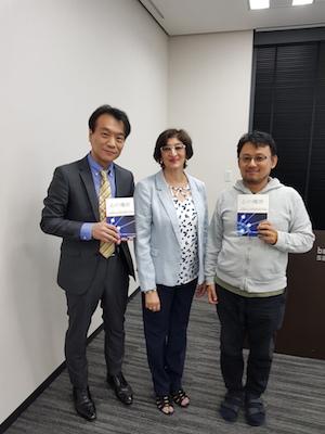 Dr Yasuhito Mikawa MD, Vanita Dahia and Guest
